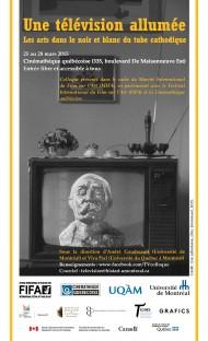 Une télévision allumée : <br />les arts dans le noir et blanc du tube cathodique